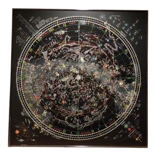Framed Map of The Universe For Sale