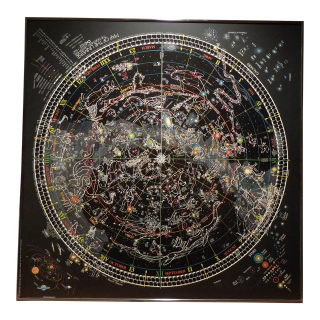 Framed Map of The Universe - Image 1 of 3