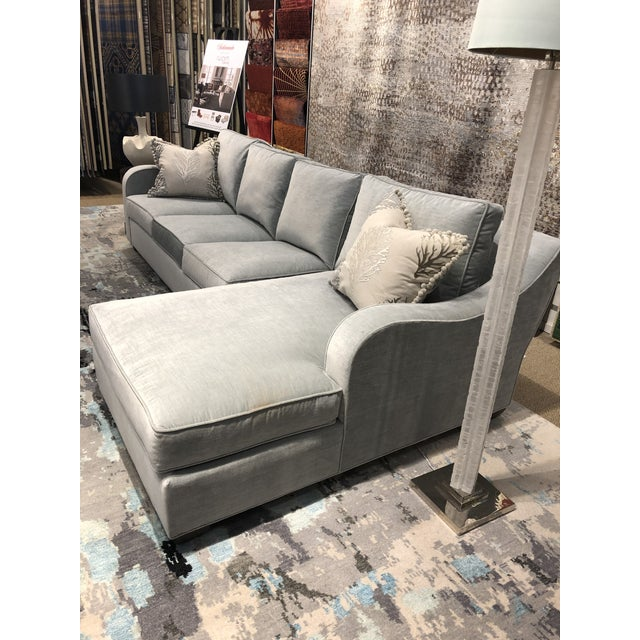 2010s Swaim Factory Transitional 2-Pc Sectional with Pillows For Sale - Image 5 of 12