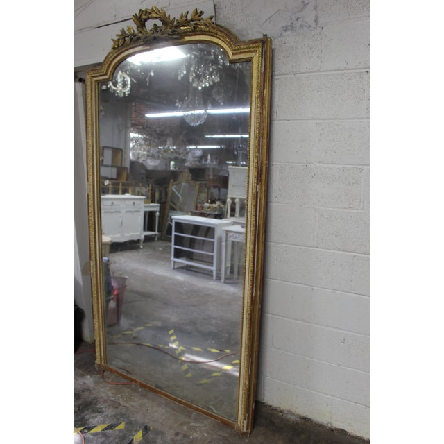 Early 18th Century 18th Century Louis XVI Giltwood Mirror For Sale - Image 5 of 9
