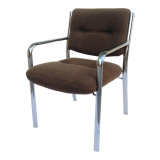 Mid-Century Polished Chrome Arm Chair For Sale