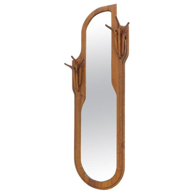 Studio Walnut Mirror by Charles B. Cobb For Sale - Image 10 of 10