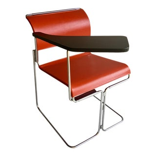 Vintage Harter Vinyl & Chrome Tablet Chair