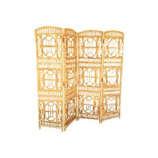 Brighton Bamboo Rattan Privacy Screen For Sale