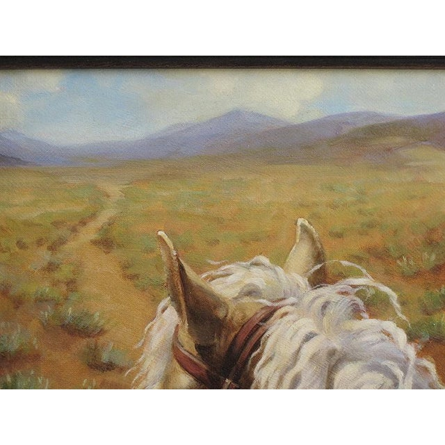 "Ute Simon ""Desert Trail"" Horse Painting - Image 5 of 7"