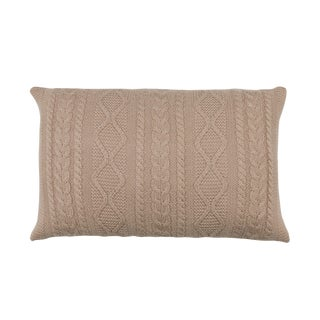 100% Baby Alpaca Howard Cable Rectangle Pillow For Sale