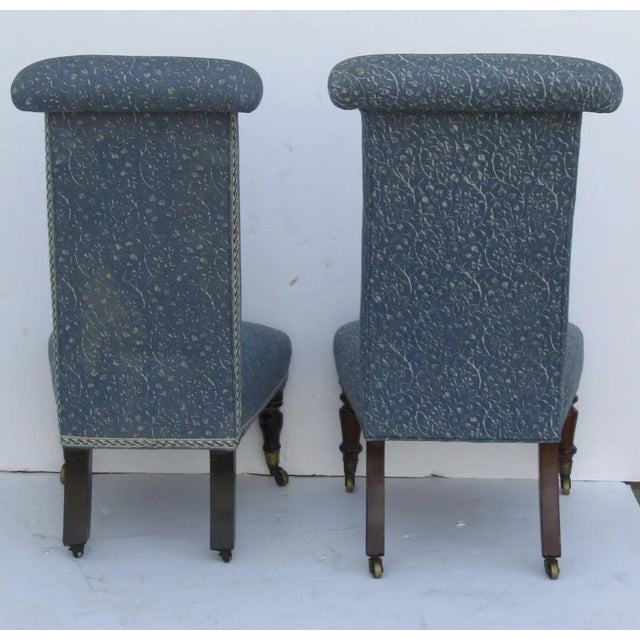 Mid 19th Century Prie Dieu Style Chairs- a Pair For Sale - Image 5 of 9
