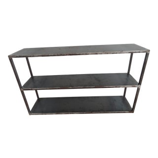 Industrial Vdt 3-Tier Metal Console Table For Sale