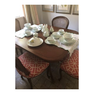 1970s Vintage D. Porthault for Limoges Jete De Fleur China Set - 32 Pieces For Sale