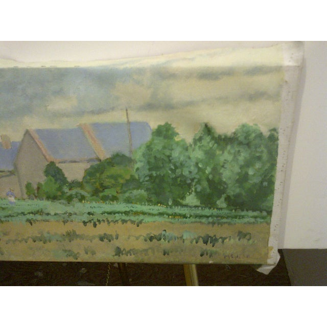 "Original Fred McDuff Painting ""Tending the Field"" For Sale - Image 5 of 7"