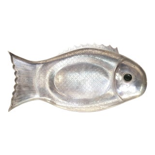 Vintage Arthur Court Aluminum Fish Serving Platter Circa 1975 For Sale