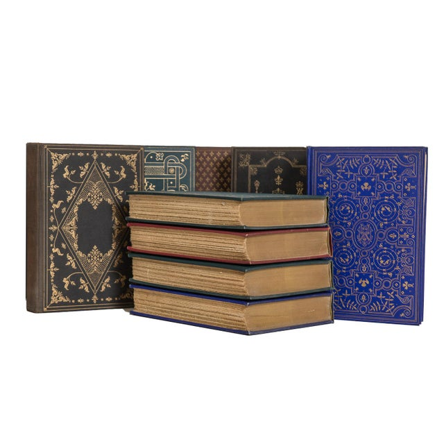 Rustic Antique Weathered Earth-Tone History Book Set, (S/15) For Sale - Image 3 of 4