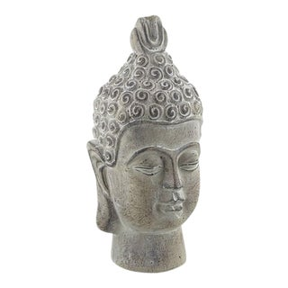 Serene Buddha Bust Sculpture For Sale