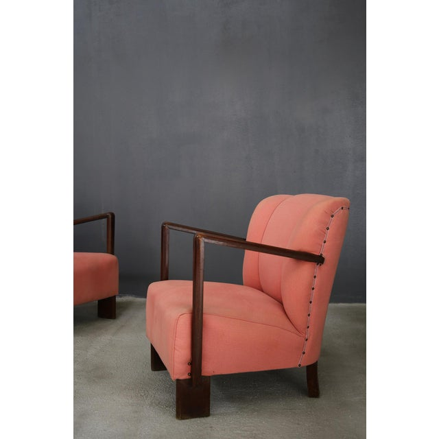 1950s Pair of 50s Armchairs by Melchiorre Bega. For Sale - Image 5 of 6