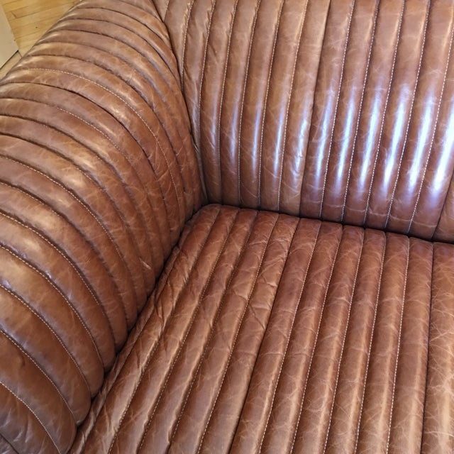 New Artsome Logan Sofa in Cognac Color Leather For Sale - Image 4 of 11