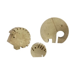 Raymor Mannelli Travertine Animals - Set of 3
