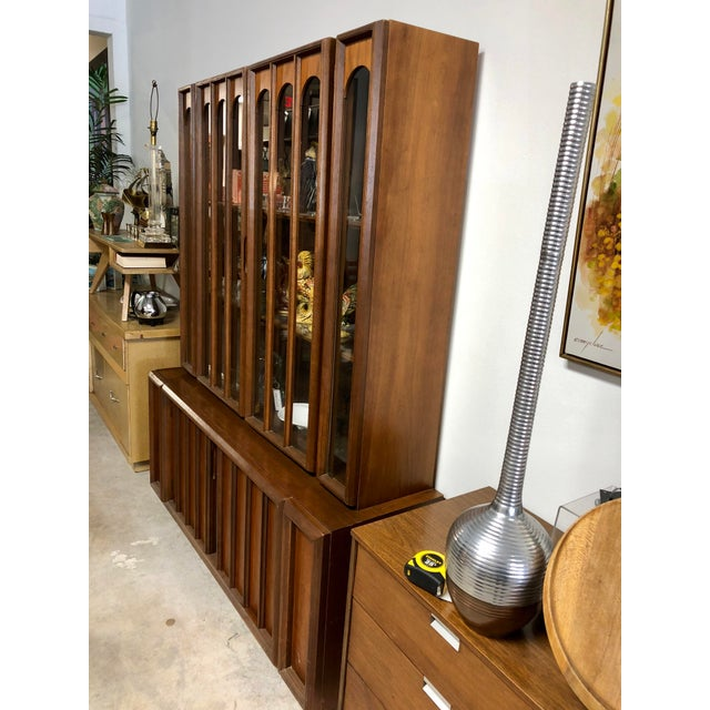 Mid-Century Modern 1960s Mid Century Modern Keller Furniture Walnut China Cabinet For Sale - Image 3 of 7