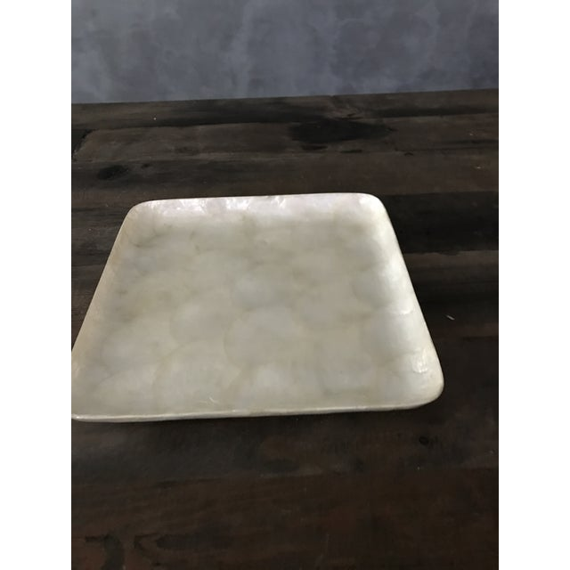 Boho Chic Square Capiz Shell Tray For Sale - Image 3 of 6