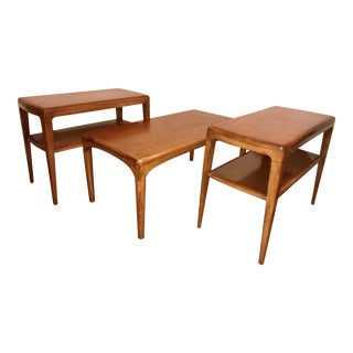 Heywood-Wakefield Coffee Table & End Tables - Set of 3