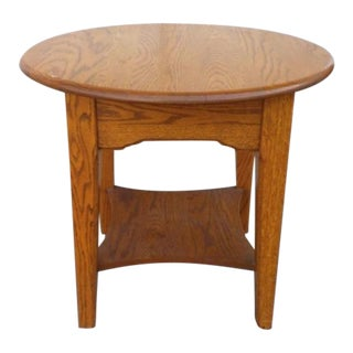 Vintage Mission-Style Oak Side Table