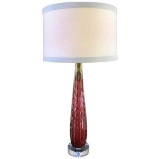 1960s Vintage Italian Murano Glass Lamp For Sale