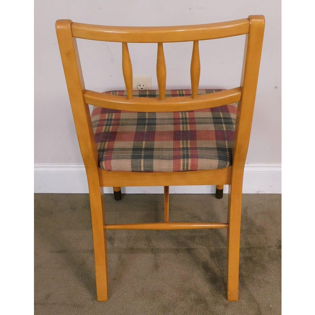 "Wood Milo Baughman for Drexel ""New Today's Living"" Mid Century Modern Set 6 Blonde Dining Chairs For Sale - Image 7 of 13"