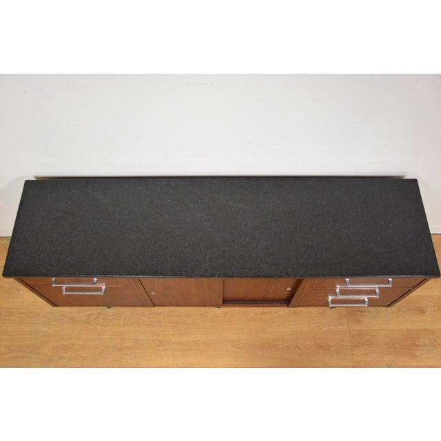Walnut & Black Granite Credenza - Image 7 of 11