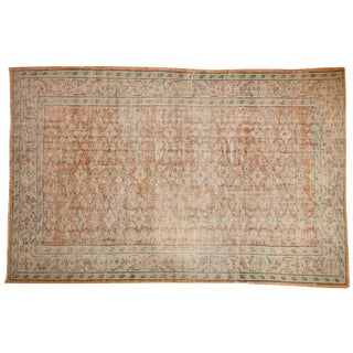 "Vintage Distressed Oushak Carpet - 5'8"" X 8'9"" For Sale"