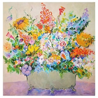 "Eva Hannah ""Spring Flowers"" Oil Painting on Canvas, Signed 2018 For Sale"