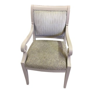 Brunschwig & Fils Painted French Linen Armchair For Sale