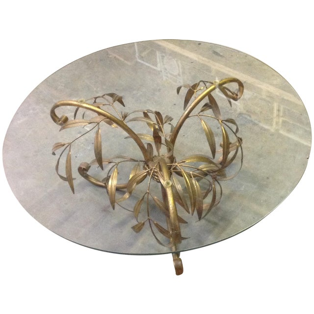 Hollywood Regency Gilt Coffee Table - Image 1 of 7