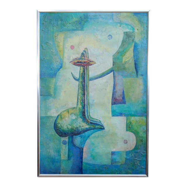 Latin American Abstract Surrealist Original Painting For Sale