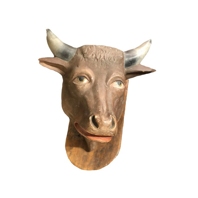 French Butchers Shop Cow Head For Sale