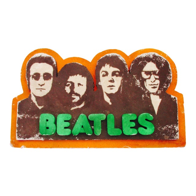 Beatles Authentic Capitol Record Promo Display 1970s Wall Decor Record Vinyl Collectors Beatles Fans - Image 1 of 8