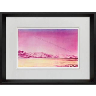 1980s Jacques Monory Signed Serigraph Print For Sale