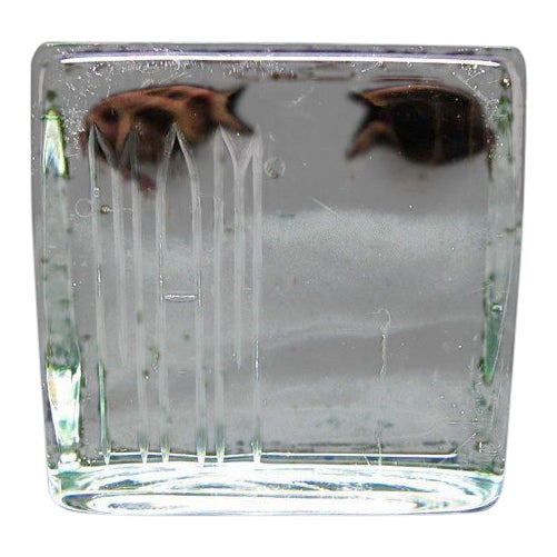 Glass Square Paper Weight - Image 1 of 4