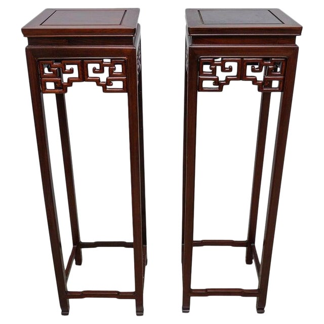 Chinese Rosewood Pedestals For Sale