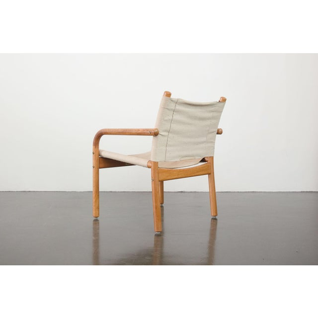 Mid-Century Danish Safari Chairs - A Pair For Sale - Image 11 of 13