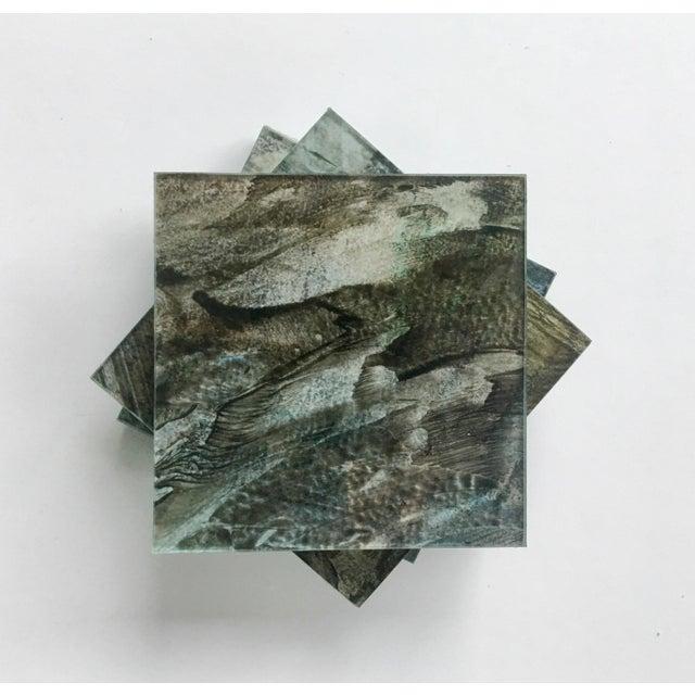 Upcycled Glass Coasters - Set of 4 - Image 4 of 8