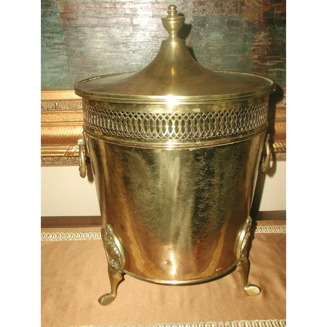 English Early 1900's Brass Coal Hod - Image 9 of 10