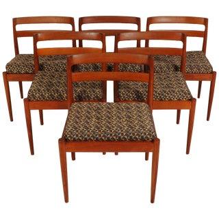 Kai Kristiansen Model 301 Teak Chairs for Magnus Olesen For Sale