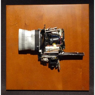 """""""8mm Cinema Camera With Zoom"""" Re-Worked Into Component Art Signed For Sale"""