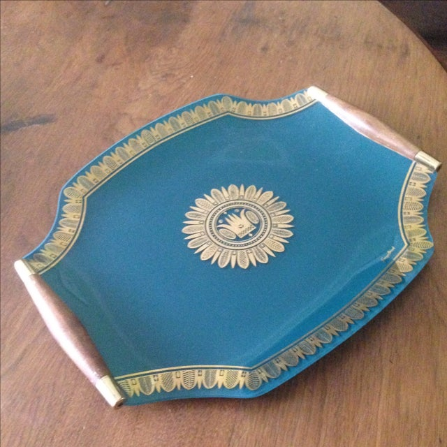 Vintage Georges Briard Glass Serving Tray For Sale - Image 10 of 11