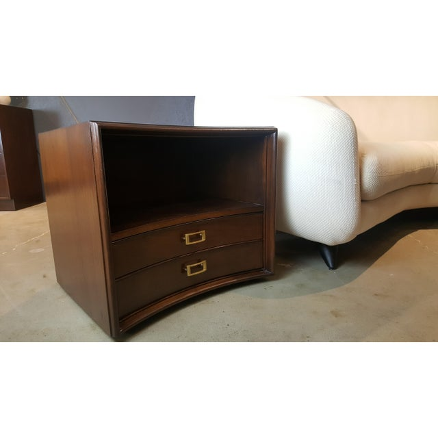 Paul Frankl for Johnson Furniture Walnut Nightstands - A Pair - Image 7 of 8