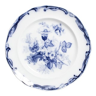 Mid 19th Century Flow Blue Serving Dish For Sale