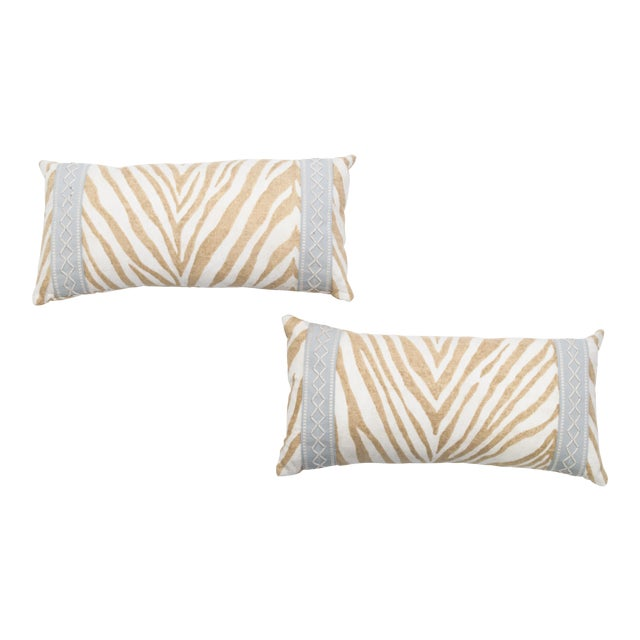 Animal Print Lumbar Pillows- A Pair - Image 1 of 3
