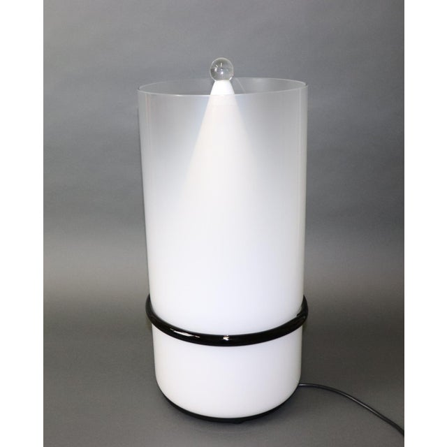 Murano Mid-Century Modern Murano Glass Table Lamp For Sale - Image 4 of 13