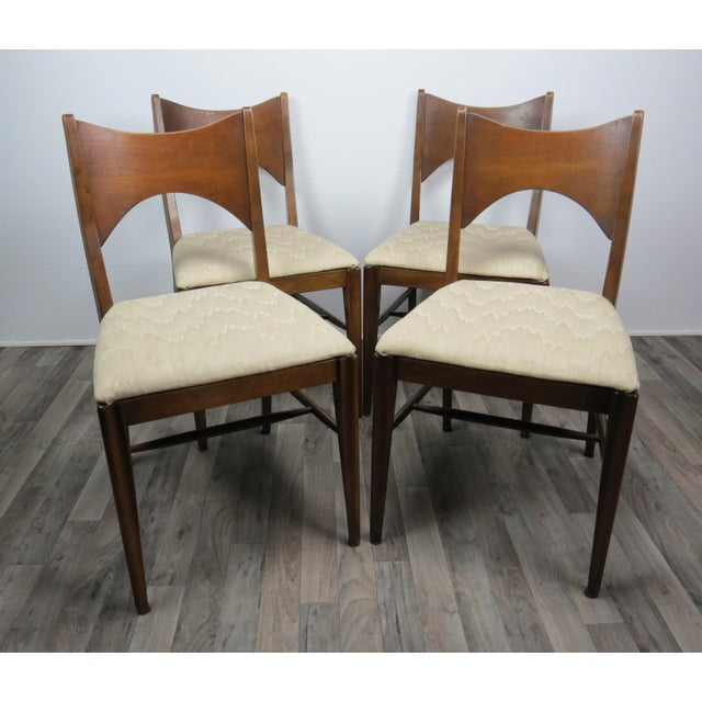 Mid-Century Modern Walnut Bowtie Dining Chairs by Lenoir - Set of 4 For Sale - Image 13 of 13