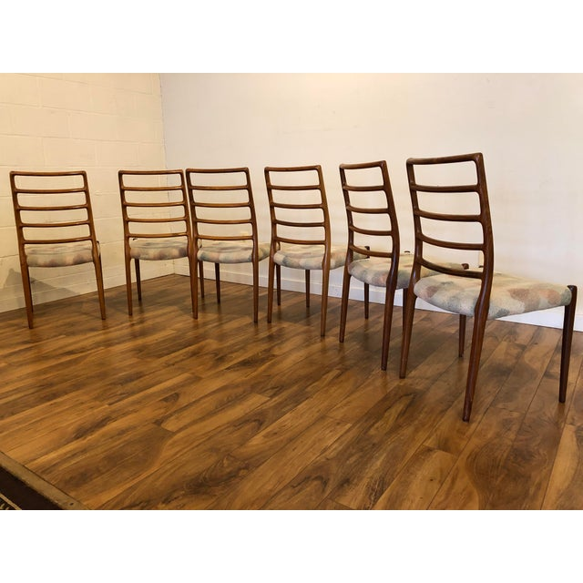 Rosewood Model 82 Dining Chairs by Niels Otto Møller for j.l. Møllers Møbelfabrik - Set of 6 For Sale In Seattle - Image 6 of 13