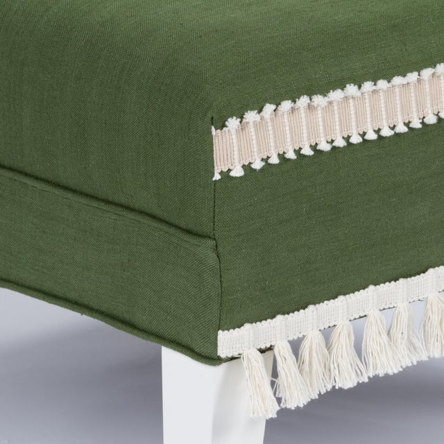 Green Casa Cosima Sintra Chair in Verdure Linen, a Pair For Sale - Image 8 of 9